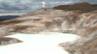 Vulkanischer Dampf Teich In Island: enge