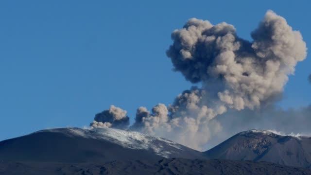 Volcano Etna. strombolian eruption