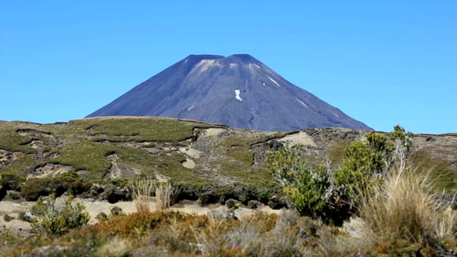 Volcano in Tongariro National Park, New Zealand