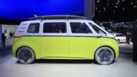 A Volkswagen AG ID Buzz camper van sits on display ahead of the IAA Frankfurt Motor Show in Frankfurt Germany on Monday Sept 11 2017