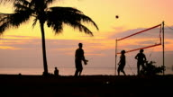volleyball on sunset beach