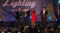Volo Pia Toscano at 4th Annual Holiday Tree Lighting At LA LIVE Opening Of LA Kings Holiday Ice in Los Angeles CA