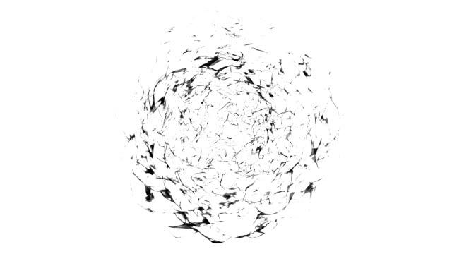 Vortex - schwarz / weiß (LOOP) von der Skulptur Königin