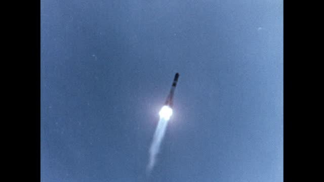 Voskhod 2 launch and astronaut Alexei Leonov on spacewalk