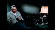 Vostok 1 designer Sergei Korolev communicates with Yuri Gagarin before launch