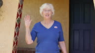 I Voted - Elderly Woman