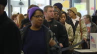 MS Voters waiting in line to cast their ballots at  early voting location five days before presidential election / Toledo, Ohio, United States