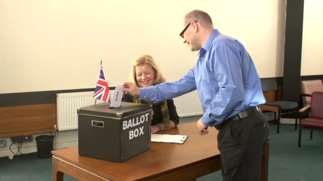 Voting in Ballot Box for the Election (Vote)