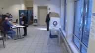 Voting in the Illinois primary on March 18 2014 in Chicago Illinois