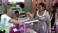 Voting takes place in French Polynesia for the second round of the French presidential election
