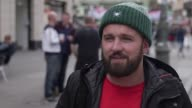 Vox pops with Manchester United fans before their Europa League quarter final match against Anderlecht They talk about how they feel about the terror...