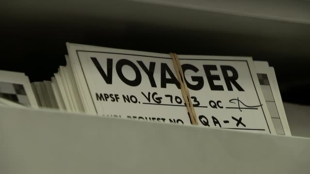 Voyager 1 marks 40 years in Space ENGLAND University of London INT Professor Carl Murray showing ITN Reporter images from Voyager Voyager images and...