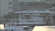 Wakato Ferry berthing alongside Wakamatus Ferry Terminal, Japan