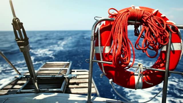 Wake of a cruising Sailing Boat
