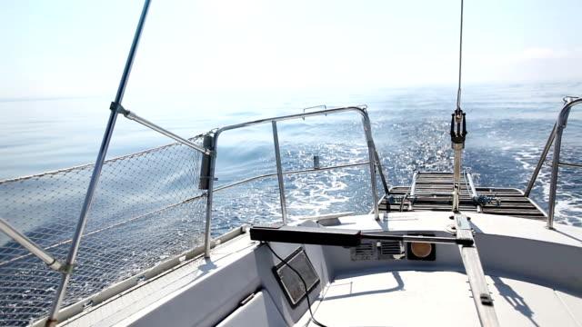 Wake of a Sailing Boat
