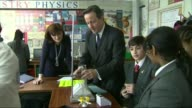 Wakefield City Academies Trust pulls out of running schools T02021511 / 222015 Kingsmead School INT David Cameron MP and Nicky Morgan MP chatting to...