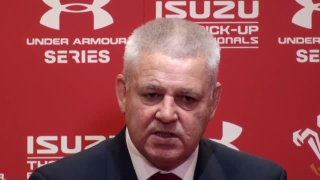Wales coach Warren Gatland and Welsh captain Alun Wyn Jones speak after Wales lost the match to Australia