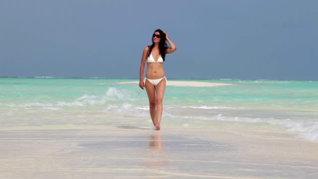 Gehen Sie auf der island beach