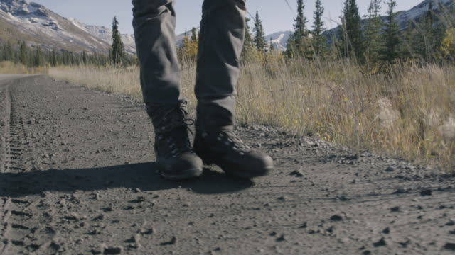 Walking Along A Gravel Road in a National Park