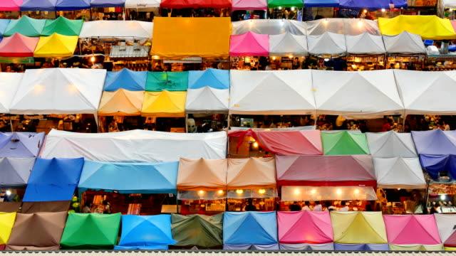 TD :Walking at Night market in bangkok Thailand