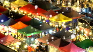 Walking at Night market