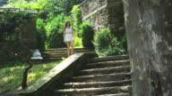 Walking down stairs