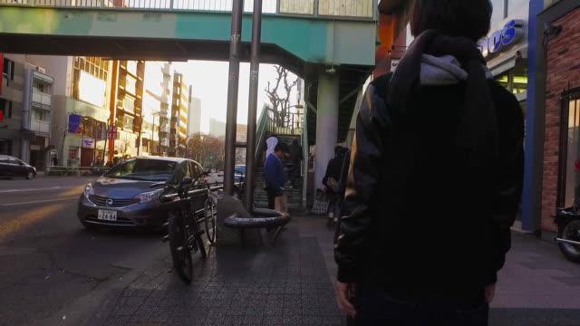 POV,Walking Harajuku to Shibuya in Tokyo.