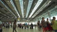 walking in airport passenger terminal