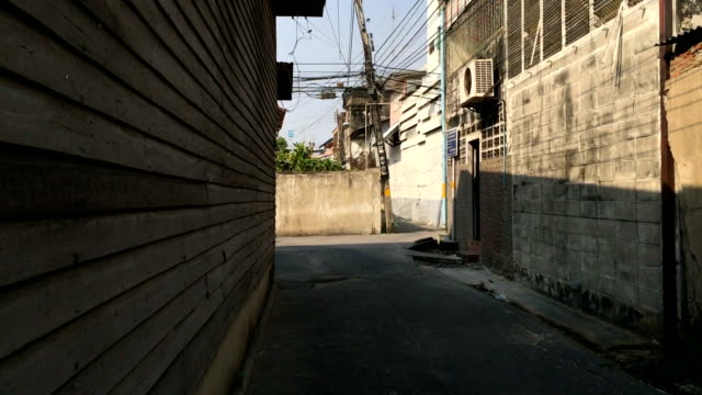 POV walking in the alley