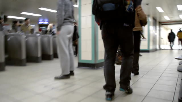 HD TIME LAPSE: Walking In The Subway Station