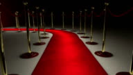 Walking on a red carpet to achieve success.