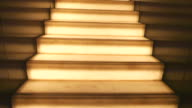 walking on light staircase
