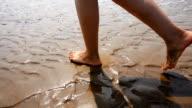 Walking auf den Strand