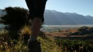 Walking out to admire mountain lake view