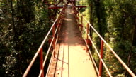 Walking Over Hanging Bridge