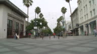 MS Walking street in Santa Monica / Los Angeles, California, United States