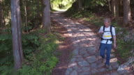 Walking the ancient trail in Kiso Valley (slow motion)