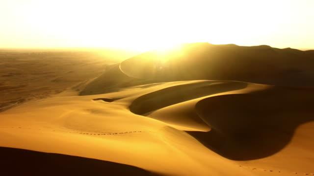 Walking through the vast Namibian desert
