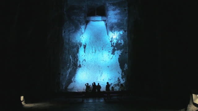 MS TU Wall covered with salt, Salt Cathedral / Zipaquira, Cundinamarca, Colombia
