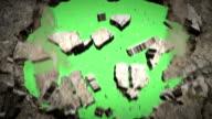 Wand Unfall (Green zurück) alpha-Kanal