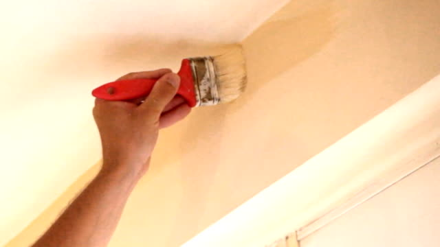 Wand Farbe Arbeit.