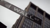 T/L CU Wall Street sign / New York City, New York, USA