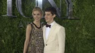 Wallis CurrieWood and Alex Sharp at 2015 Tony Awards Arrivals at Radio City Music Hall on June 07 2015 in New York City