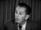 Walt Disney in London en route for Dublin ENGLAND LAP CU Walt Disney No Doing as much animated cartoon as I have ever done I diversified – I...