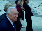 Walter Cronkite and guest at the 2006 Tribeca Film Festival Vanity Fair Party at State Supreme Courthouse in New York New York on April 26 2006