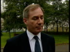 Hunt for Osama Bin Laden narrows ITN ENGLAND London EXT Geoff Hoon MP interviewed SOT We don't know precisely where he is but primary objective of...
