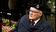 EXT War veteran Reg Argyle wearing medals on chest sitting in wheelchair Duke of Edinburgh meeting Reg Argyle Reg Argyle interview SOT On friend who...