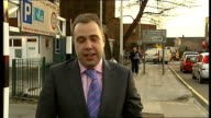 Warehouse fire in West Drayton Reporter to camera Matthew Burrows interview SOT
