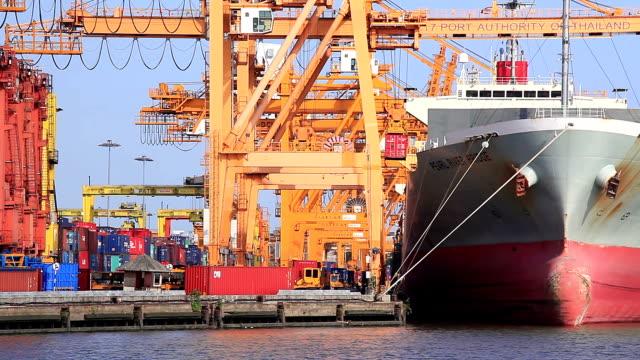 HD: warehouse Port Hintergrund in Bangkok, Thailand