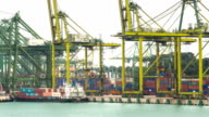 HD: warehouse Port background in Singapore